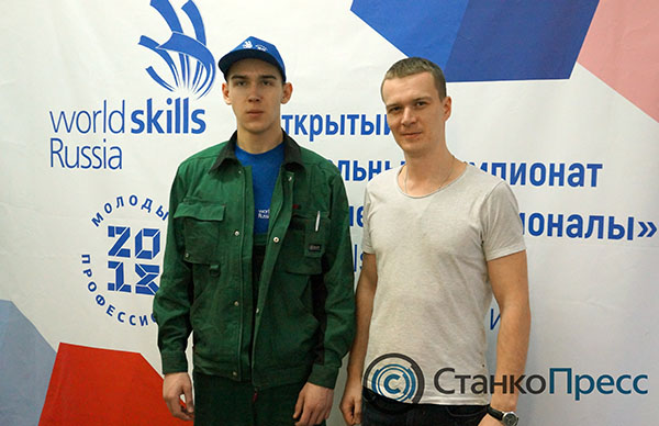 JSC PC StankoPress team members at the qualification of WorldSkills Russia 2018